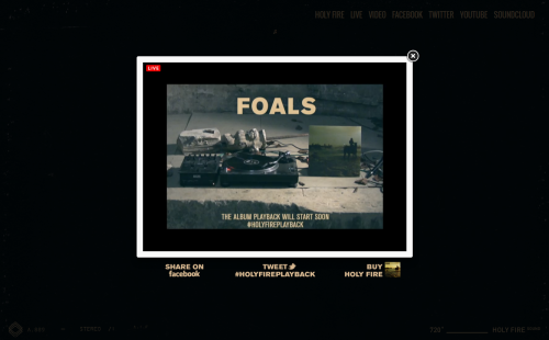 Foals - Holy Fire - Album Playback - Before