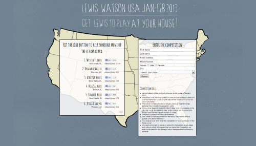 Lewis Watson USA 2013 - Win a show at your house