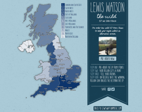 Lewis Watson Pre-order Campaign Map