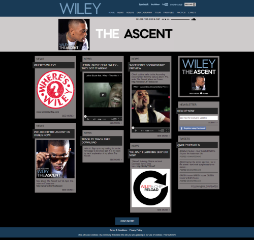 Wiley Website - Wiley music, videos, photos, tour dates, news, lyrics, downloads