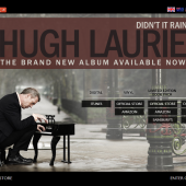 Hugh Laurie 'Didn't It Rain' campaign page