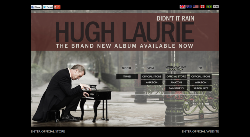 Hugh Laurie - Didn't It Rain Campaign Page UK