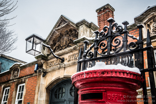 The Old Kentish Town Postmen's House in the Snow