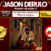 Jason Derulo – Trumpet Or Dump It Web App
