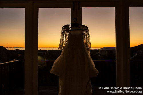 Ana-Paula's Wedding Dress At Sunset