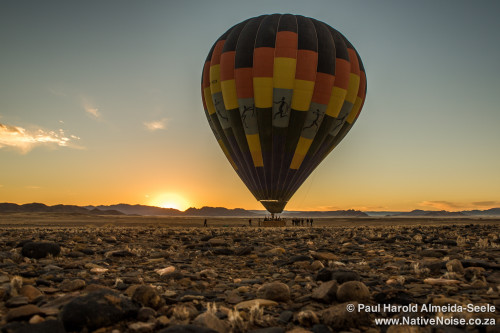 Hot Air Balloon Flight Over The Sossousvlei Desert