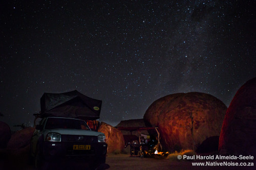 Our Campsite Under The Stars In Damaraland, Namibia