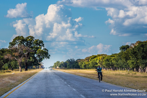 Driving Along The Trans-Caprivi Highway, Namibia