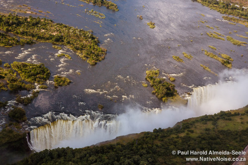 Helicopter Flight Over Victoria Falls, Zimbabwe